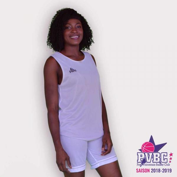 Short réversible noir blanc Adulte PEAK - image 1