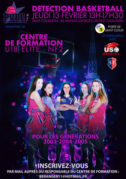 Journée de détection basket U18 NF2 PVBC 13 février