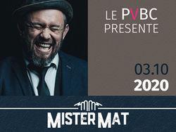 Concert au Grand Angle de Voiron Mister Mat en octobre
