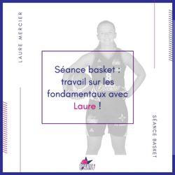 Séance basket avec Laure MERCIER