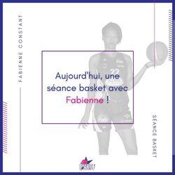 Séance basket avec Fabienne CONSTANT