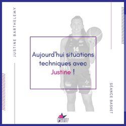 Séance basket avec Justine BARTHELEMY
