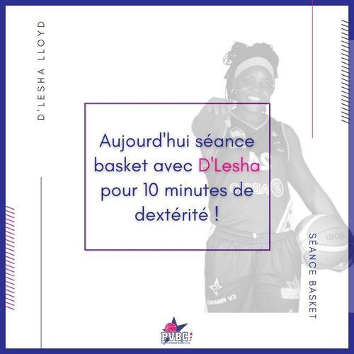 Séance basket avec D'Lesha LLOYD