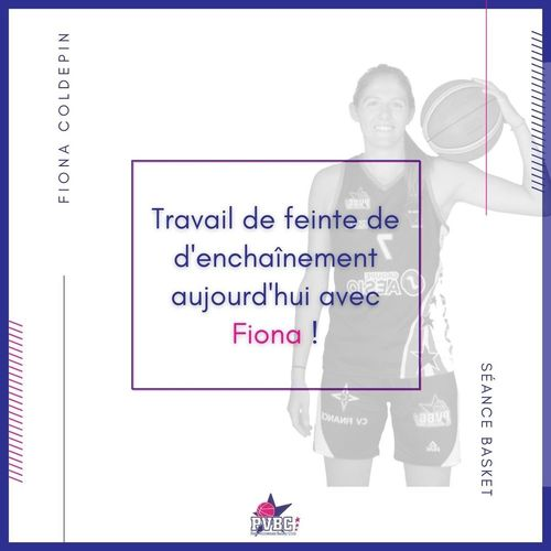 Séance basket avec FIONA COLDEPIN
