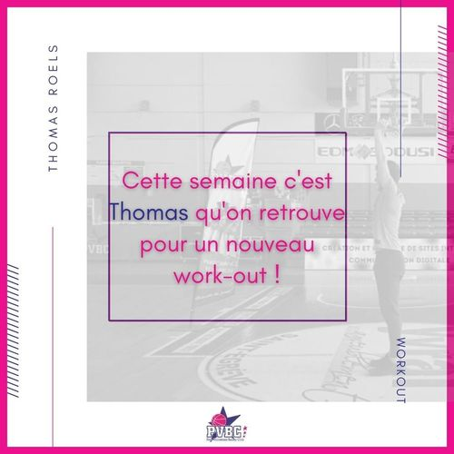 Séance Work Out avec THOMAS ROELS