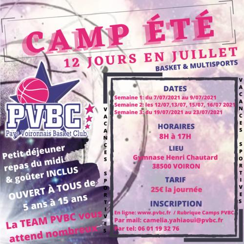 Camp été 2021 PVBC