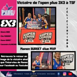 Tournoi Open Plus 3X3 Super League 27/06
