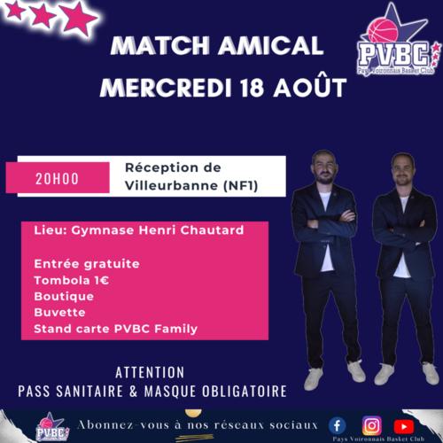 Match amical PVBC-Villeurbanne - 18/08