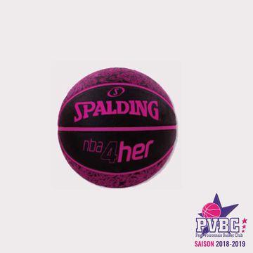 Ballon Spalding noir et rose T6