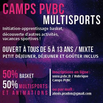 Camp Traditionnel basket et multisports (à la journée)