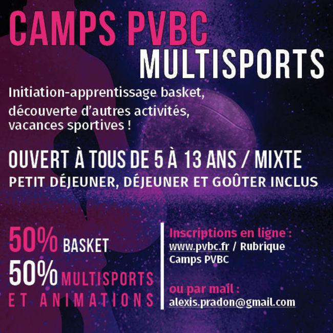 Camp Traditionnel basket et multisports (semaine)