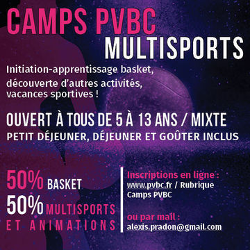 Camp Traditionnel basket et multisports (semaine)