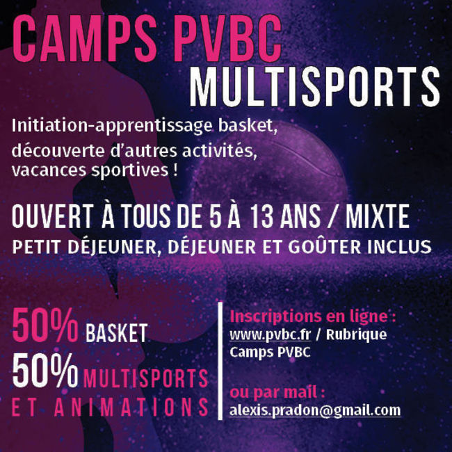 Camp Traditionnel basket et multisports (2 semaines)
